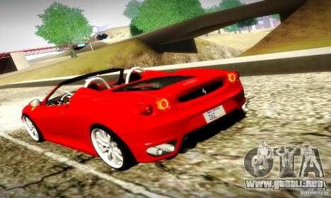 Ferrari F430 Spider para la vista superior GTA San Andreas