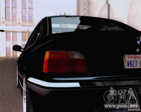 BMW M3 E36 New Wheels para GTA San Andreas vista hacia atrás