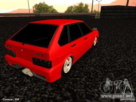 VAZ 2109 Opera Turbo para GTA San Andreas vista posterior izquierda