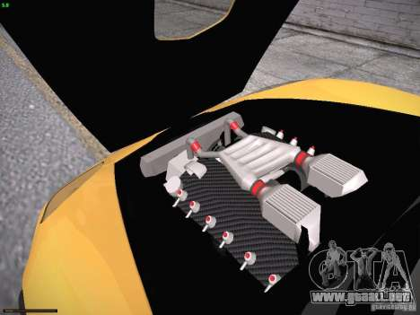 Chevrolet Corvette ZR1 para vista inferior GTA San Andreas