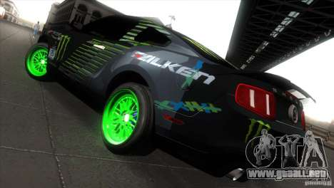 Ford Shelby GT500 Falken Tire para la visión correcta GTA San Andreas