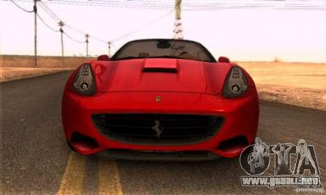 Ferrari California V3 para la visión correcta GTA San Andreas