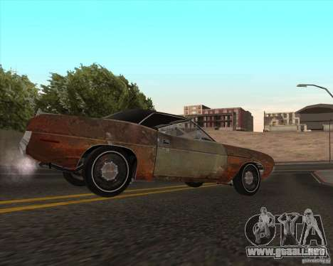 Plymouth Cuda Ragtop 1970 para GTA San Andreas left
