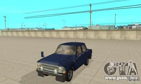 Moskvich 412 con afinación para GTA San Andreas
