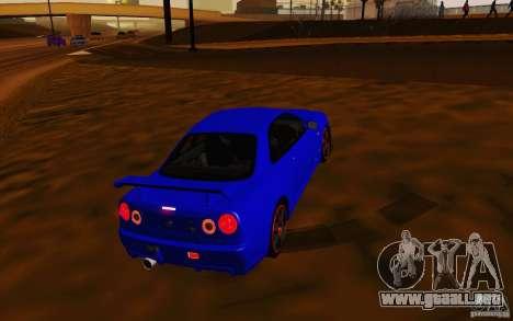 Nissan Skyline R34 GT-R V2 para la visión correcta GTA San Andreas