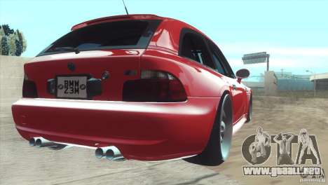 BMW Z3 M Power 2002 para GTA San Andreas left