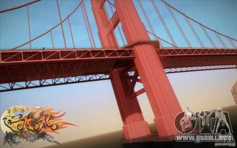 New Golden Gate bridge SF v1.0 para GTA San Andreas quinta pantalla
