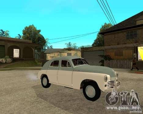 GAZ M20 Pobeda para la visión correcta GTA San Andreas