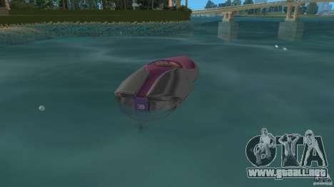 Bugatti Sang Bleu Speedboat para GTA Vice City vista lateral izquierdo