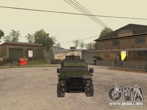 Oshkosh SandCat of Mexican Army para visión interna GTA San Andreas