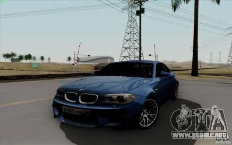 BMW 1M 2011 V3 para GTA San Andreas vista hacia atrás