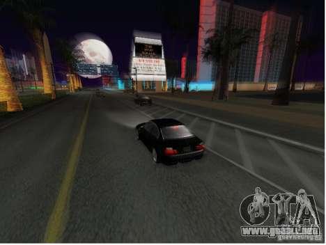BMW M3 GT-R Stock para GTA San Andreas vista posterior izquierda
