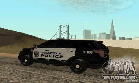 Ford Police Interceptor Utility 2011 para GTA San Andreas left