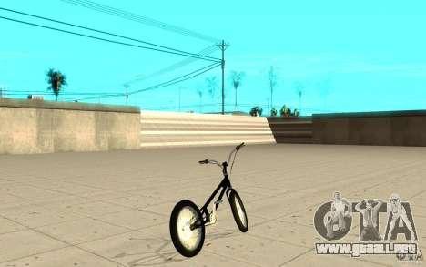 Trail Bike para GTA San Andreas vista posterior izquierda