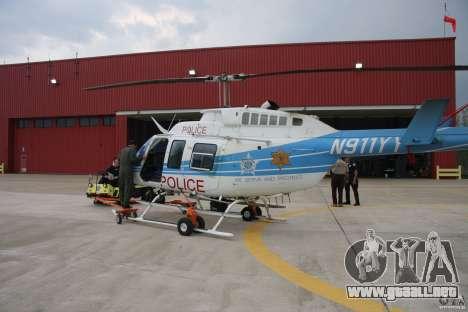 Bell 206 B - Chicago Police Helicopter para GTA 4 vista superior