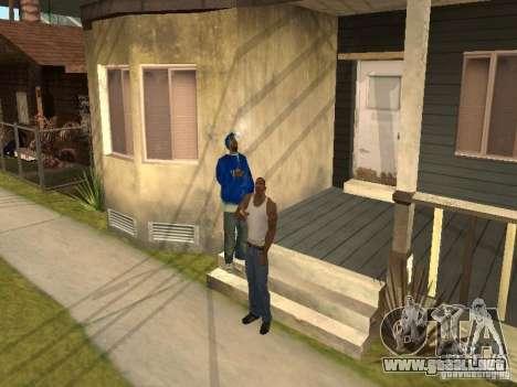 Puede sentarse, fumar, beber whisky, vómitos, es para GTA San Andreas segunda pantalla