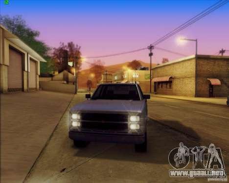 SA_Mod v1.0 para GTA San Andreas quinta pantalla