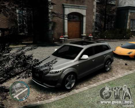 Audi Q7 V12 TDI Quattro Updated para GTA 4 vista hacia atrás