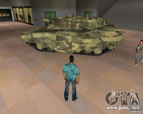 Tanque de Camo para GTA Vice City segunda pantalla