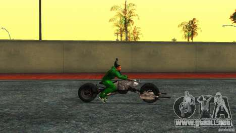 Batpod HQ para GTA San Andreas left