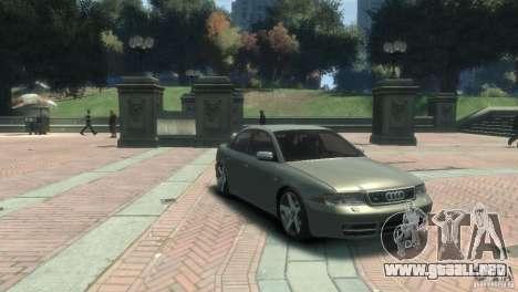 Audi S4 para GTA 4 Vista posterior izquierda