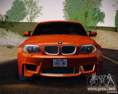 BMW 1M v2 para visión interna GTA San Andreas