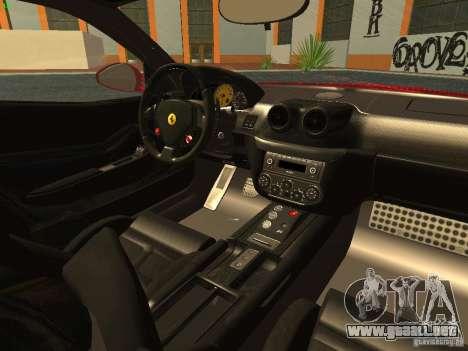 Ferrari 599 GTB para visión interna GTA San Andreas