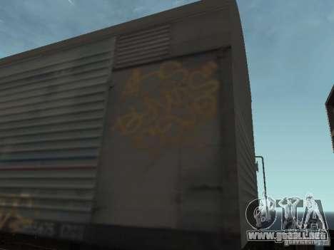 Carro Refrežiratornyj Dessau Nº 8 pintado para GTA San Andreas vista hacia atrás