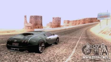 Bugatti ExtremeVeyron para GTA San Andreas vista hacia atrás