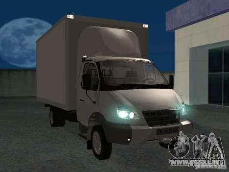 33102 Valday GAZ (largo) para GTA San Andreas vista hacia atrás