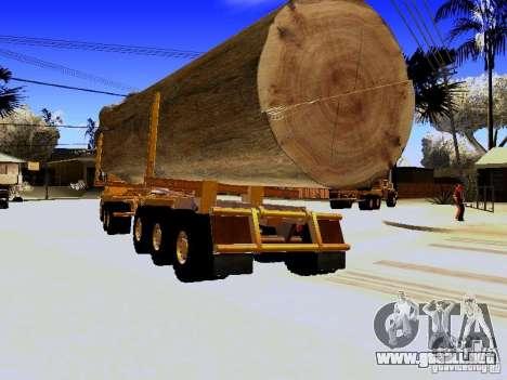Trailer de Hayes EQ 142 para GTA San Andreas vista posterior izquierda