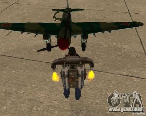 Il-2 m para GTA San Andreas vista hacia atrás