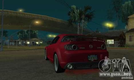 Luces de neón rojo para GTA San Andreas segunda pantalla