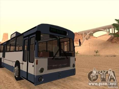 MAN SL200 Exclusive v.1.00 para GTA San Andreas vista hacia atrás