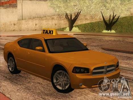 Dodge Charger STR8 Taxi para GTA San Andreas left