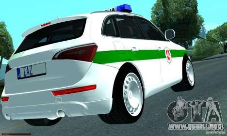 Audi Q5 TDi - Policija para la visión correcta GTA San Andreas
