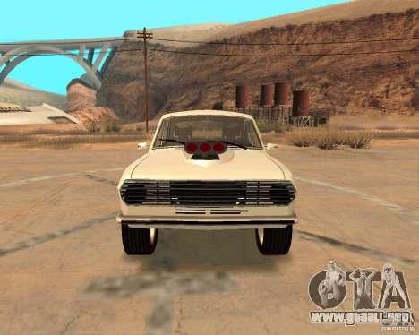 GAZ Volga 2410 caliente Road para vista inferior GTA San Andreas