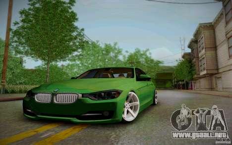 BMW 3 Series F30 Stanced 2012 para visión interna GTA San Andreas