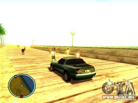 Mazda Miata 1994 para GTA San Andreas vista posterior izquierda