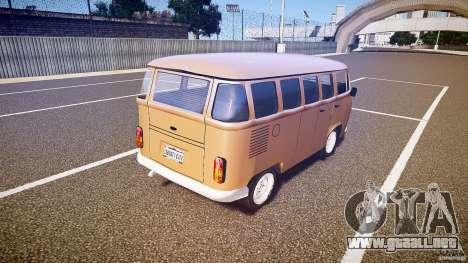 Volkswagen Kombi Bus para GTA 4 Vista posterior izquierda