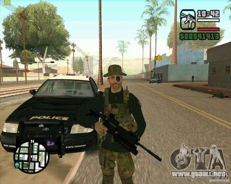 Piel Praice de COD 4 para GTA San Andreas segunda pantalla