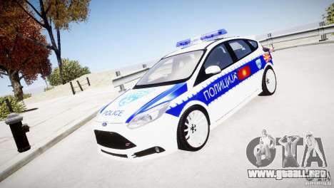 Ford Focus Macedonian Police para GTA 4