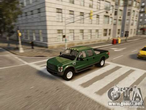 Ford F-250 FX4 2009 para GTA 4 vista superior