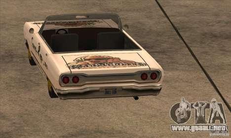 Pintura para Sabana para GTA San Andreas tercera pantalla