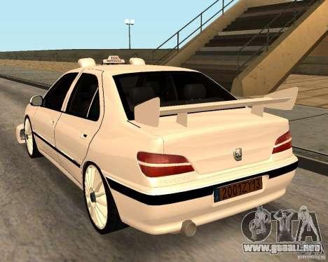 Peugeot 406 Taxi 2 para GTA San Andreas vista posterior izquierda