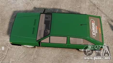 Volkswagen Gol GL 1992 Edit para GTA 4 visión correcta