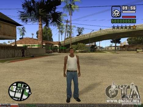 Pak armas para GTA San Andreas sucesivamente de pantalla