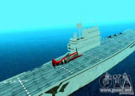 Battle Ship para GTA San Andreas segunda pantalla