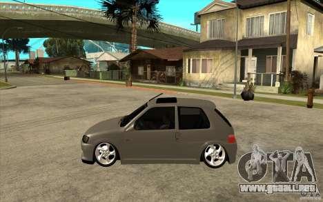 Peugeot 106 Reptile para GTA San Andreas left