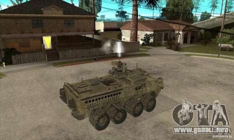 Stryker CDMW2 para la visión correcta GTA San Andreas